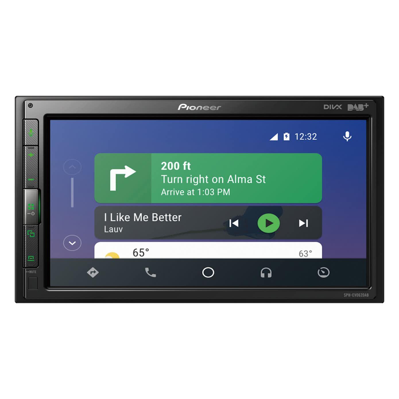 Pioneer SPH-EVO62DAB-CLIO CarPlay, DAB radio og Bluetooth